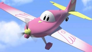Airplane cartoon for kids - The Airport Diary - Our new friend Emily (cartoon 7)
