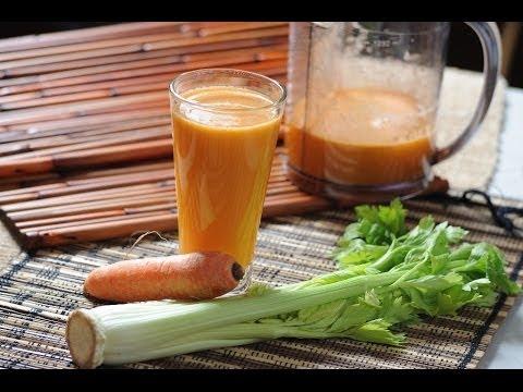 como hacer un jugo verde con naranja
