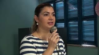 Samantha explana sua satisfação na comemoração do dia das mães da secretaria de saúde