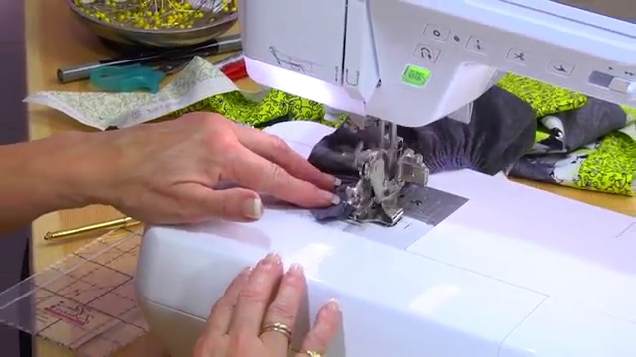 Gathering Fabric with the Ruffling Foot