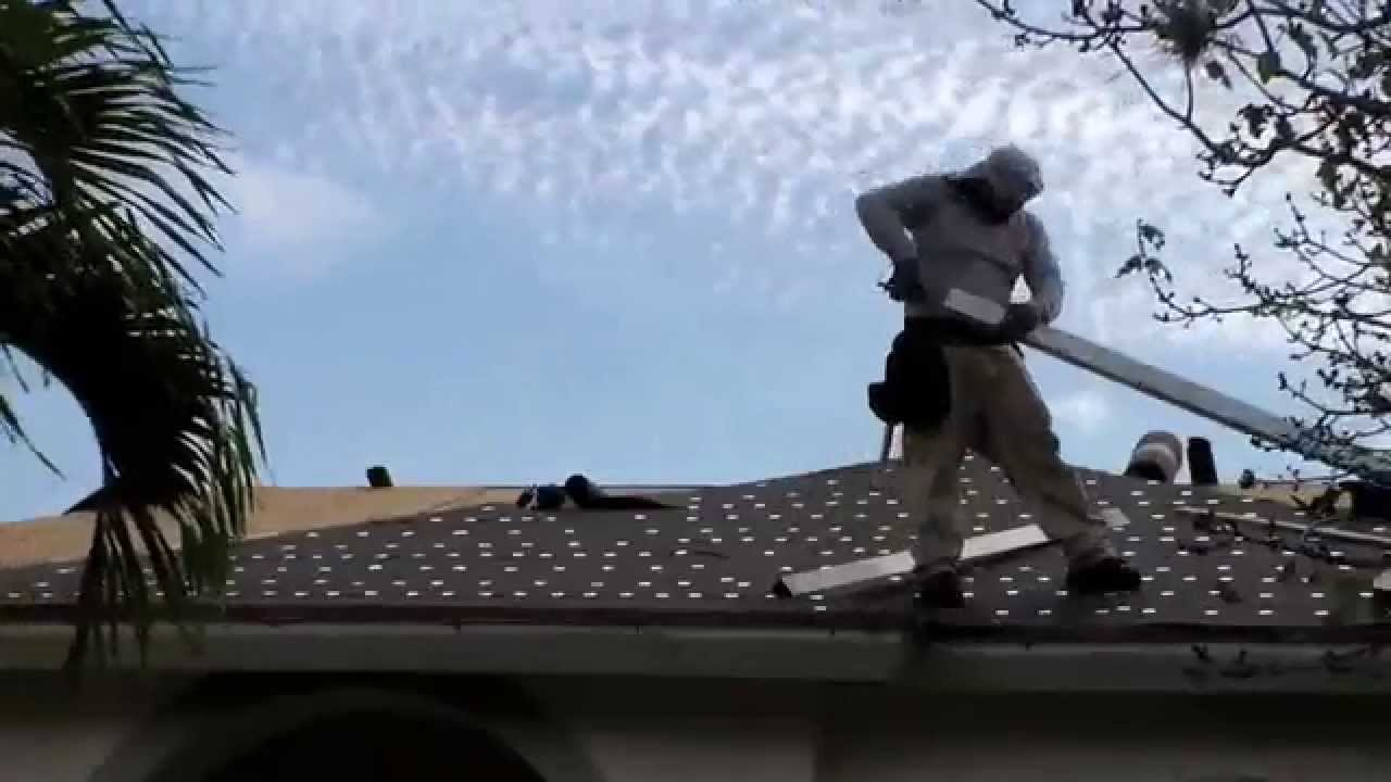 Roof Installation: 30 Pound Tar Paper (Du0027Agostino Roofing)   YouTube