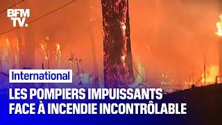 En Australie, les pompiers ne parviennent pas à maîtriser ces flammes géantes