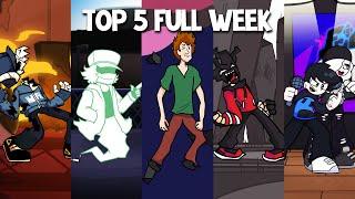 Top 5 Mods Full Week! in Tabi, Garcello, Shaggy, AGOTI & Starlight Mayhem - Friday Night Funkin #3
