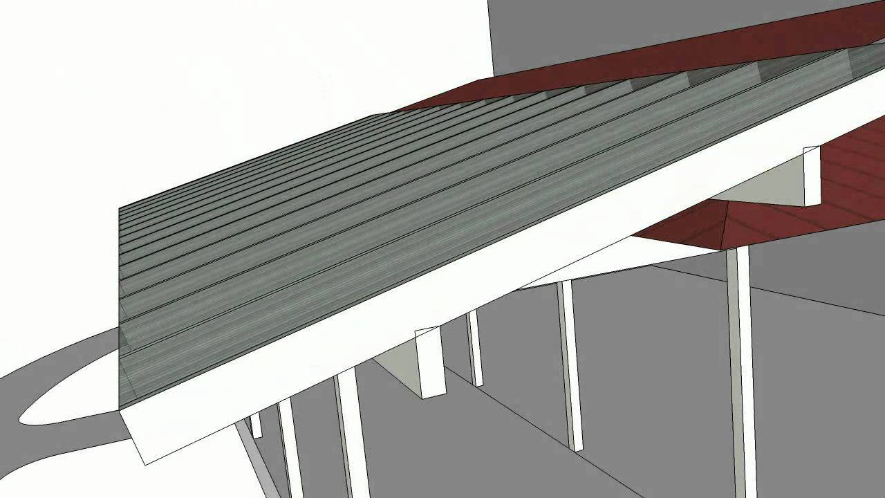 porch roof addition (1213c), SketchUp animation - YouTube