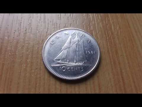 Wonderful Canada - 10 Cents coin from 1981 in HD