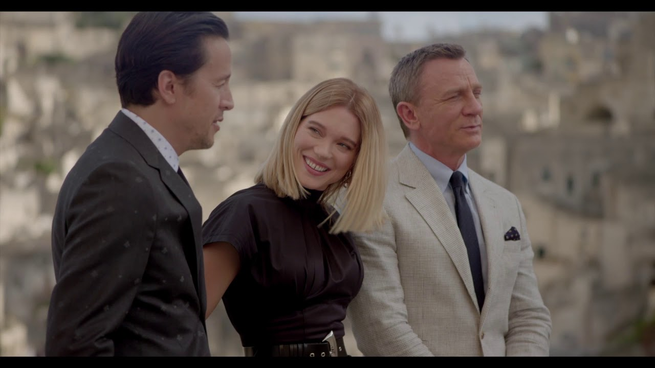 No Time To Die (Bond 25) Movie On Location In Matera. Italy Photocall B-Roll || #SocialNews.XYZ - YouTube