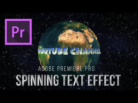 How to Create Spinning Text Effect - Adobe Premiere Pro Tutorial