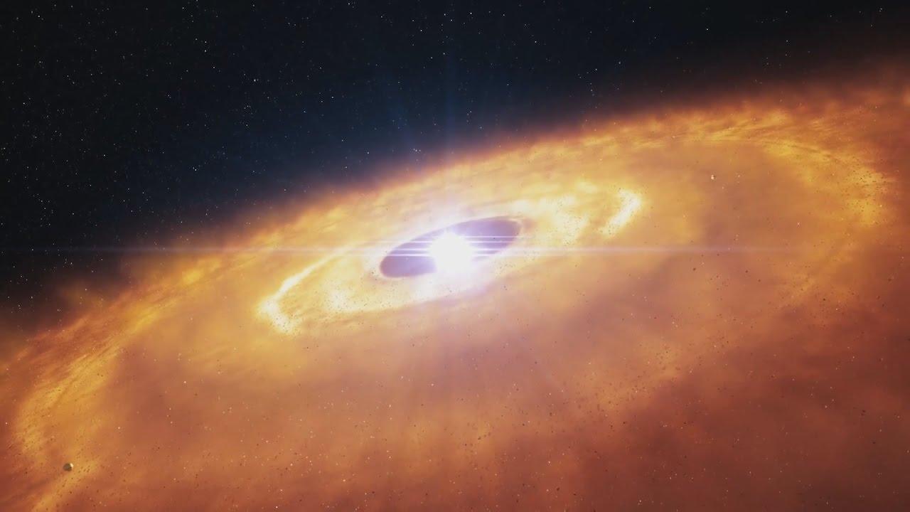 Формирование протопланетного диска в прямом эфире!