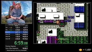 Teenage Mutant Ninja Turtles NES speedrun in 18:55 by Arcus