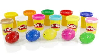 Play Doh Eggs Surprise | Learn Colors with Play Doh for Kids | Learn Animals with Toys Surprise
