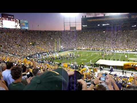 Packers/Saints Bart Starr and Packers Intro 9/8/11