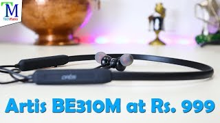Artis BE310M Best and Cheapest Bluetooth Wireless Earphone at Rs 999 watch Unboxing amp Review
