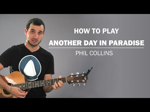 Another Day In Paradise (Phil Collins) | How To Play On Guitar