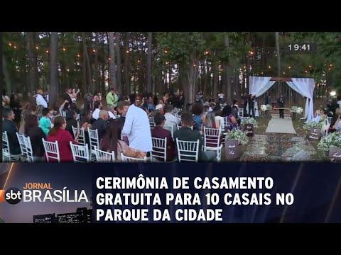 Cerimônia de casamento   gratuita para 10 casais no   Parque da Cidade | Jornal SBT Brasília 20/07