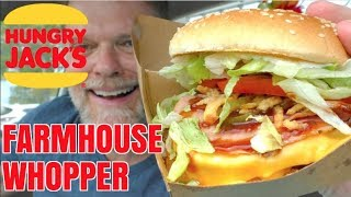Double Farmhouse Whopper Review - Hungry Jacks/Burger King - Greg's Kitchen