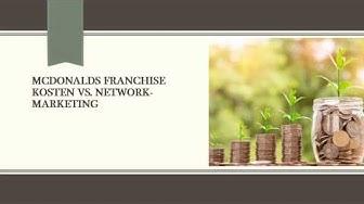 McDonalds Franchise Kosten vs. Network-Marketing 📈