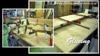 Making A Handmade Solid Oak Butterfly Leaf Extending Table