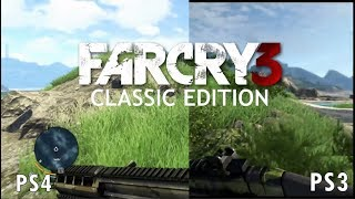 Far Cry 3 Classic Edition PS4 vs PS3 Comparsion Side by Side