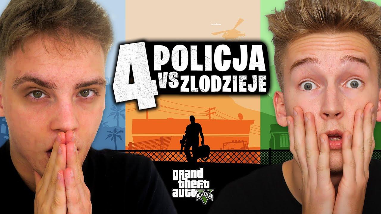GTA V POLICJA VS ZŁODZIEJE 4