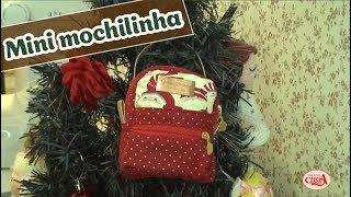 Como fazer uma mini mochilinha em patchwork