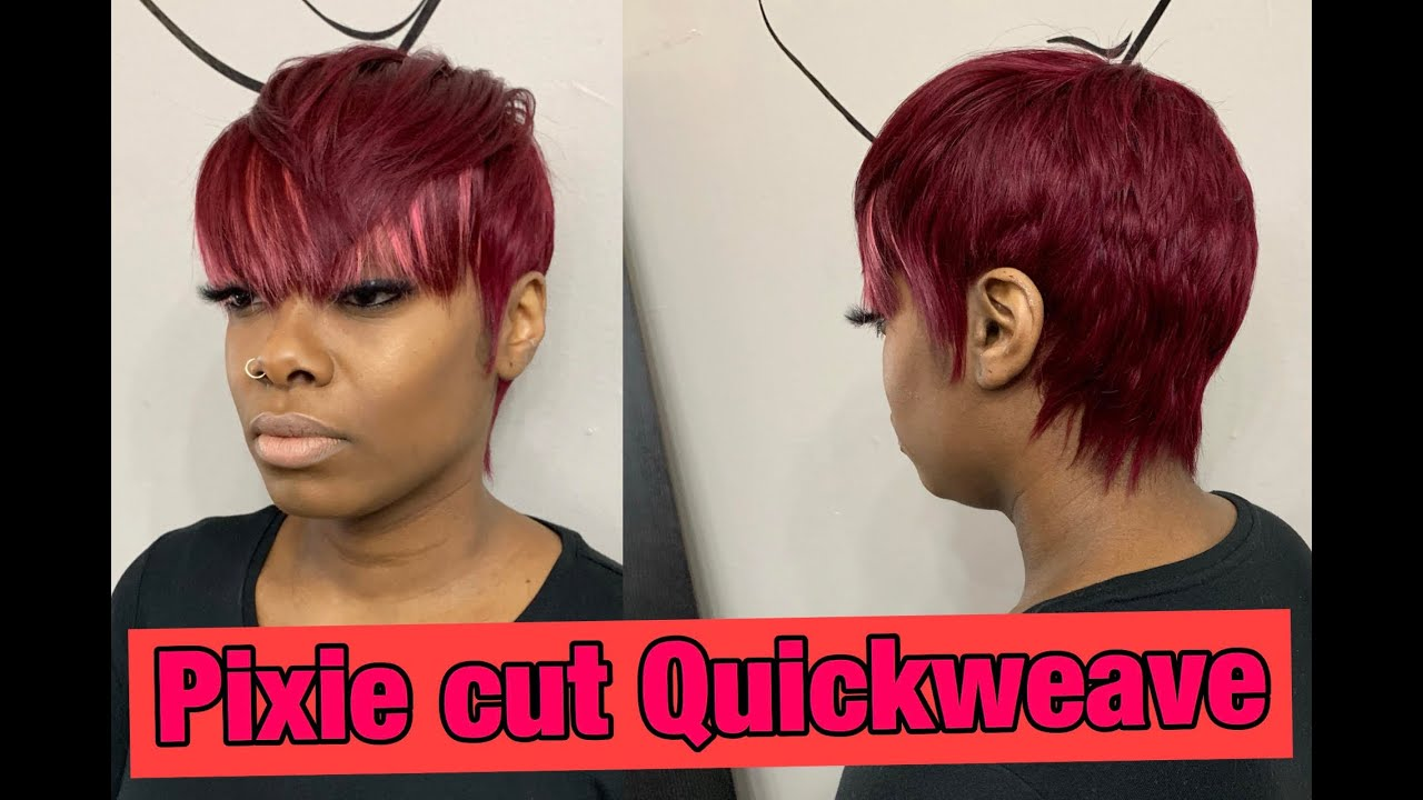 Quick Weave Pronto Pixie Cut With Weave Youtube