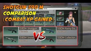 Shotgun 590M Comparison Review (Combat Mastery Gained) - LifeAfter