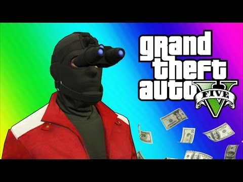 Thumbnail: GTA 5 Heists #2 - Invisibility Glitch, Hydra Jet, Humane Labs! (GTA 5 Online Funny Moments) [Part 2]