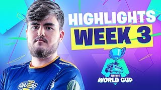 MEJORES MOMENTOS WORLD CUP FORTNITE WEEK 3 | Team Queso