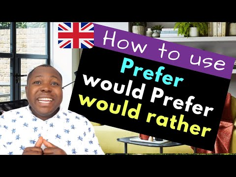 What is the difference between Prefer and would prefer - Expressing Preference in English