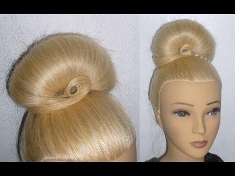 Easy Frisur mit Duttkissen:Dutt mal anders.Hochtsteckfrisur.Donut Updo Hair Bun Hairstyle.Peinados
