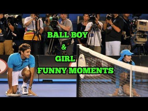 FUNNY TENNIS MOMENTS- BALL BOY & GIRL COMPILATION..(HD)
