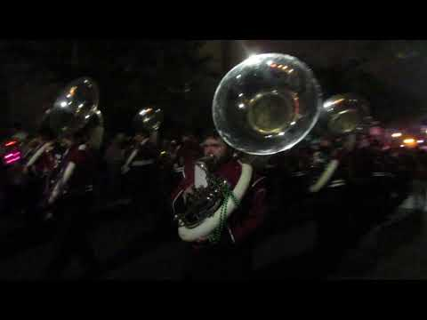 West Alabama Marching Band Playing Cold Hearted Snake (2018) Mardi Gras Parade