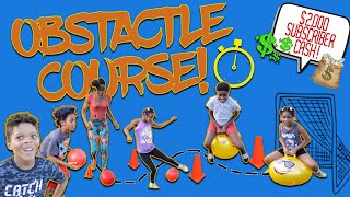 $2,000 SUBSCRIBER Cash Giveaway! Obstacle Course, Home Game, OnLine Game Family Game Fun Game