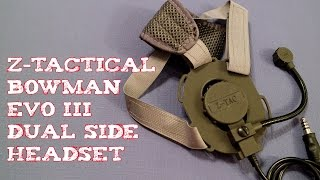 (Review) Z-Tactical Bowman Style EVO III Dual Side Headset OD