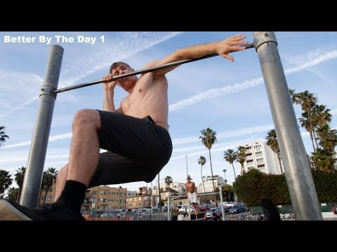 BETTER BY THE DAY . DAY 1 . MAC STORE - BENCH PRESS COMBINE RECORD BROKEN - SANTA MONICA BEACH