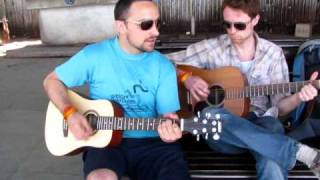 Eric Carter and Joey Del Re play Music in Indian Train Station