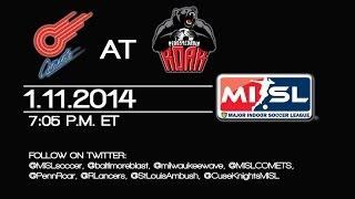 Pennsylvania Roar vs Missouri Comets 1/11/14