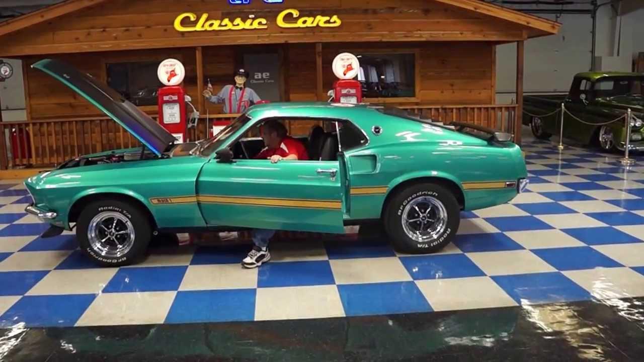 1969 Silver Jade Ford Mustang