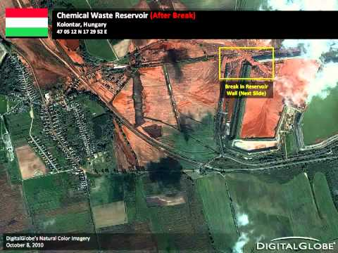 TOXIC SPILL, AJKA, HUNGARY- BEFORE and AFTER