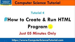 4 How to Create and Run HTML Program