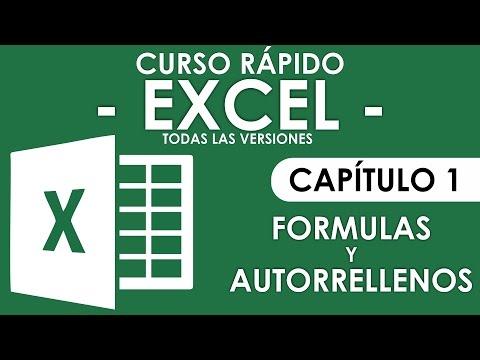 Curso Excel 2013 - Capitulo 1, Formulas (Audio Mejorado)