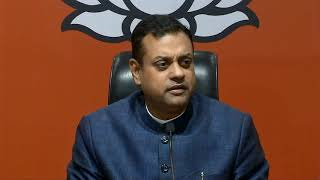 Media briefing by Dr Sambit Patra at BJP HQ.