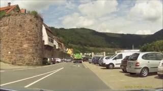Ortsdurchfahrt im Odenwald/Neckartal/HP: Hirschhorn (NW rein, SO raus)