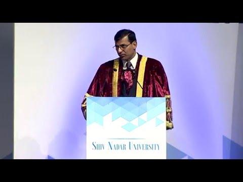 Dr. Raghuram Rajan's address at Shiv Nadar University Convocation, May 7, 2016 (Part 1)