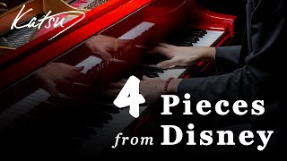 4 Pieces from Disney (Relaxing Piano) [16 Mins] | Katsu