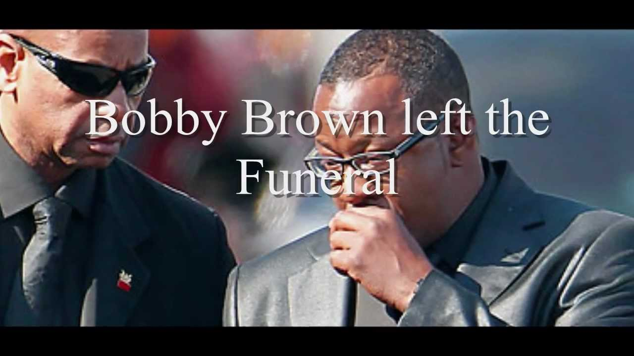 bobby brown leaves whitney houstons funeral youtube