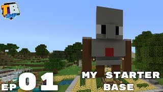 My Starter Base - Truly Bedrock Season 2 Minecraft SMP Episode 1