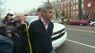 George Clooney arrested by Secret Service