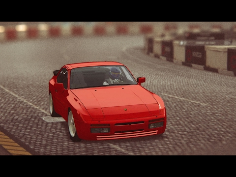 Assetto Corsa Porsche 944 Turbo S at Highlands Circuit (Long variant, early morning fog)