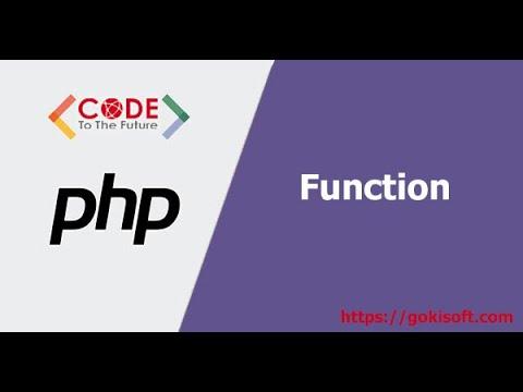 [khóa học lập trình PHP] Hướng dẫn lập trình PHP căn bản - Function